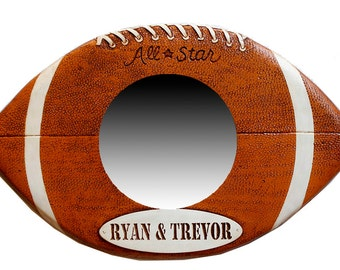 Kids Room Football Mirror personalized with child's name