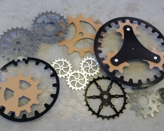 Gears Art Industrial Steampunk Wall Decor Made To Order