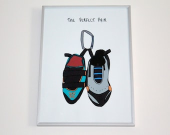 Climbing Shoes Print | A4 | The Perfect Pair | Personalise | Climbers | Rock Climbing | Gift