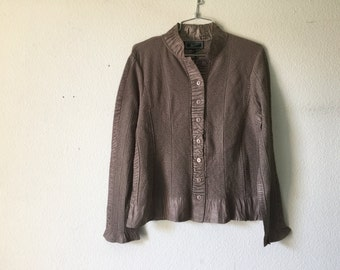 FREE SHIPPING - Vintage 90s Puckered Blouse