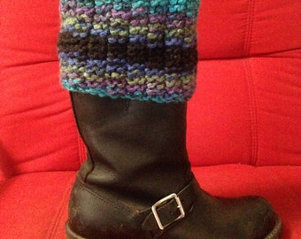 Hand Knitted Boot Cuff/Boot Topper