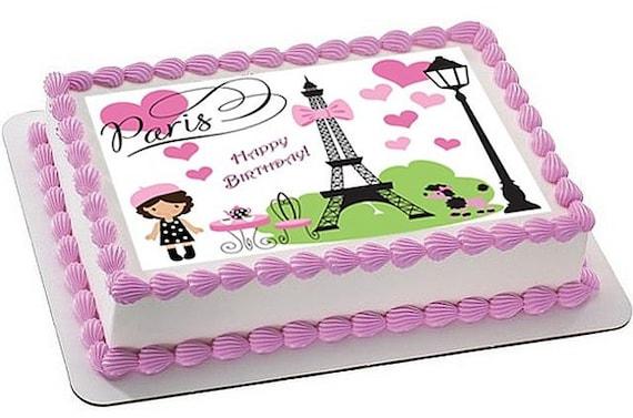 Paris cake topper Paris edible cake topper Paris edible
