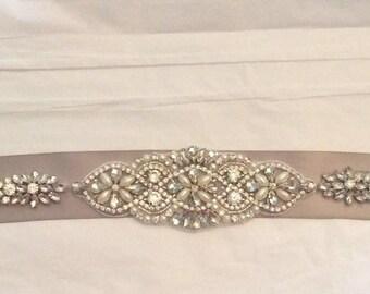 BRIDAL SASH Bridal Belt Rhinestone bridal sash Rhinestone Belt Bridal accessories Wedding Belt Dress Belt Wedding accessories