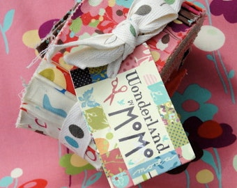 SALE : MoMo Wonderland Jelly Roll moda fabrics OOP HTF