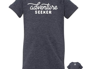 Adventure Seeker Baby Onesie, Hip Adventurous Baby Bodysuit