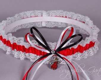 Miami Heat Lace Wedding Garter