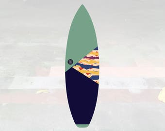 NEW IN | Volcan-Oh | Surfboard Sock | Triangle Pistachio