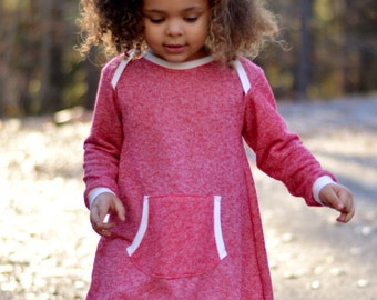 Long sleeve dress for girls - girls clothes for fall - girls long sleeve dress - toddler outfit for fall - baby girl clothes for fall