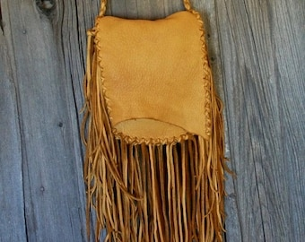Fringed crossbody handbag ,  Leather handbag with fringe , Leather handbag , Fringed leather purse , Fringed gypsy handbag