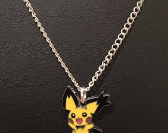 Silver Plated Nintendo Pokemon Pichu Necklace