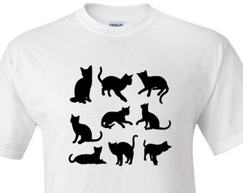Cat Silhouettes -  T shirt