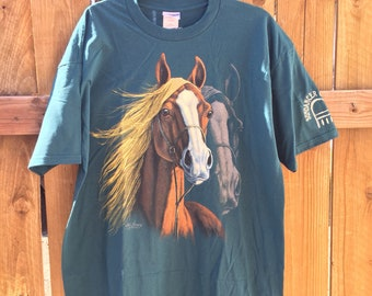 New With Tags Horse Novelty Print Silkmasters T-Shirt