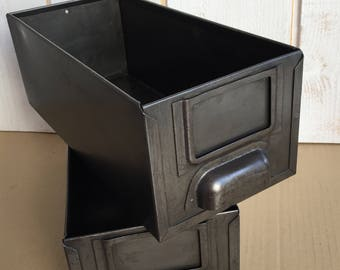 Set of 2 industrial drawers