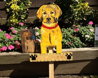 Labrador retriever lawn sign ornament