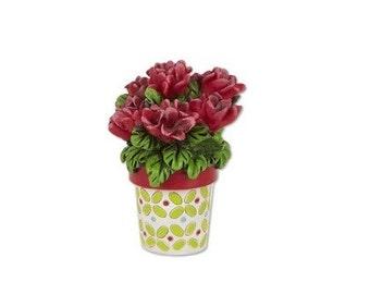 Miniature Garden - Potted Geraniums - Miniature Fairy Garden Supplies