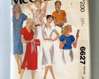 McCall's Misses' Dresses and Tops  Pattern 6627