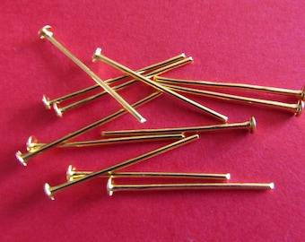 set of 30 PCs flat gold 20mm