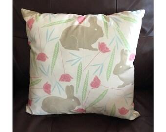 Pastel Spring Bunny Pillow