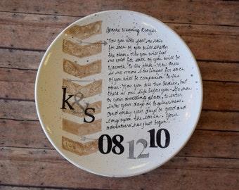 Apache Wedding Blessing Platter