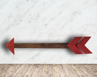 Rustic Arrow Wall Decor - Wooden Arrow Wall Decor - Tribal Arrow Sign - Arrow - Boho Wood Sign - Nursery Wood Arrow - Mother's Day Gift Idea