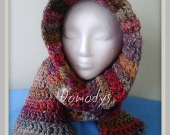 Hooded Scarf, Crochet Hooded Scarf, Handmade Hooded Scarf
