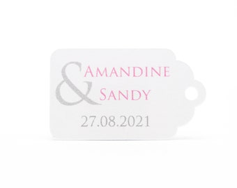 10 labels 2.4 x 4 cm, ampersand majestic, customized for your wedding favors