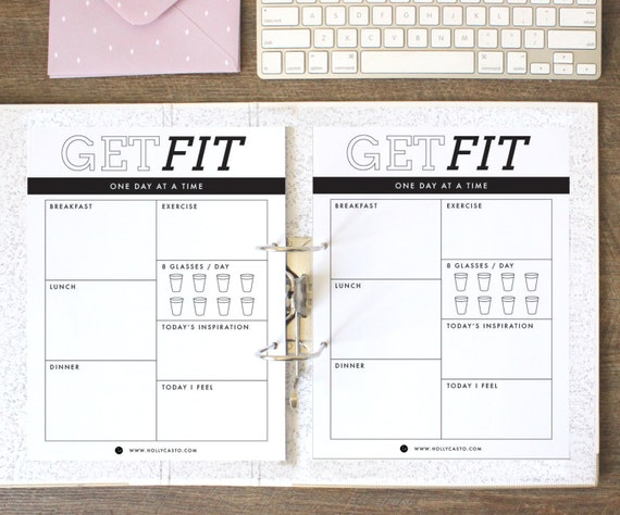 daily food diary fitness journal emotional health and water