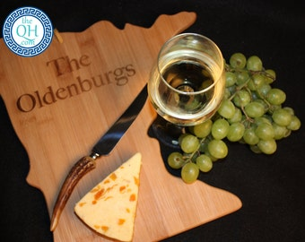 Minnesota State Shaped Cutting Board Personalized Wedding Housewarming New Home Moving Hostess Closing Unique Gift