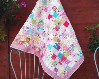 Baby Quilt, Baby Girl Crib Bedding, Nursery Decor, Baby Girl Cot Bed, Nursery Bedding