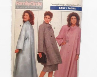 Butterick 5760 Easy Misses Coat-Family Circle Collection Size 18-20-22 UNCUT