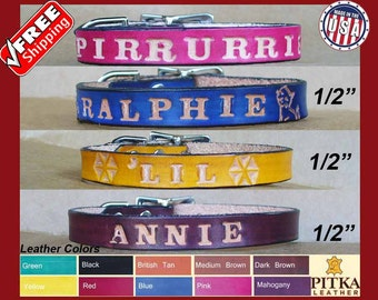 Customized Cat Collars - Kitten Collars Personalized with Name - Cat id Collar - Beautiful Cat Collars Custom made in USA - FREE SHIPPING