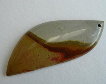 Sleek asymmetrical Succor Creek Jasper pendant bead
