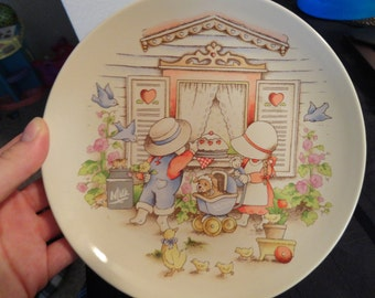 """Country Kids Collector's Desert Plate  """" Moms Are Special"""""""