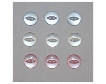 60 x buttons basic 14 mm 2 holes set L - 000817