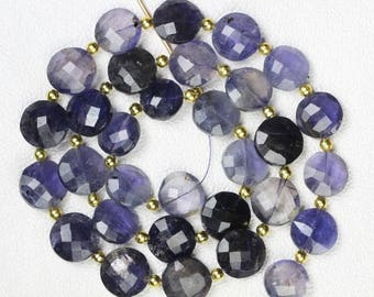 30 pieces faceted fancy Iolite briolette beads 5 x 10 -- 5 x 11 mm approx