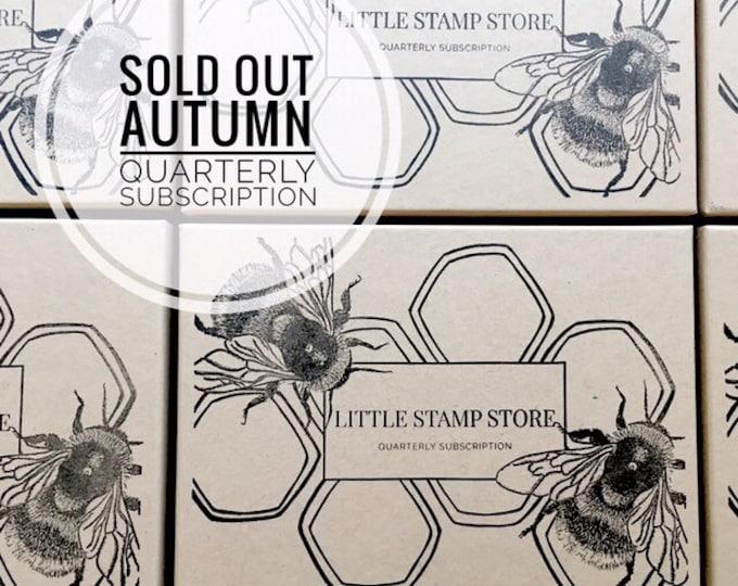 Subscription Box - Quarterly subscription box - Rubber stamp subscription - Little Stamp Store subscription box - Subscription gift - Her