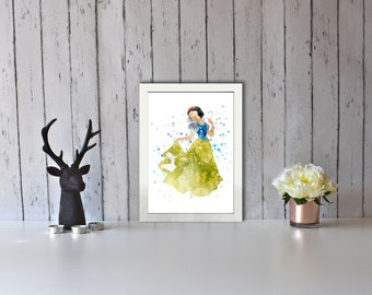Watercolour Snow White Print (A5 Sizes Also Available)
