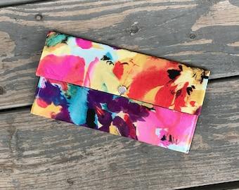 Coupon Wallet | Coupon Organizer | Womens Coupon Wallet | Womens Coupon Organizer | Watercolor | Floral | Floral Coupon Wallet