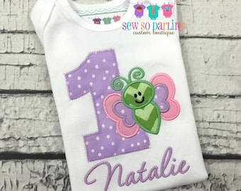 Baby Girl Butterfly Birthday Outfit - Baby Girl 1st Birthday Theme - 1st Birthday Butterfly Birthday Outfit - 1st Birthday Outfit