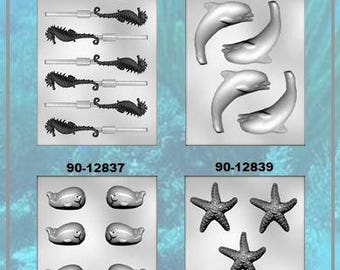 Aquatic Animals & Creatures Chocolate Molds (C)