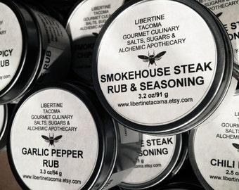 Gourmet Rubs & Seasonings in a Variety of Sizes Part 1