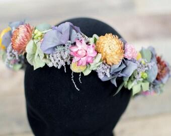 Dried Flower Crown Wedding Bride Bridesmaid