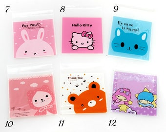 Self Adhesive Cello Bags. Gift. Plastic. Cat. Dog. Angel. Lamb. Bear.