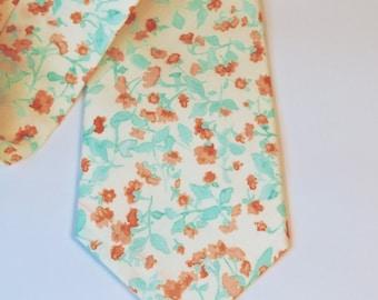 Mint Necktie Mint and Coral Necktie Wedding Neckties Mint Neckties Mint Tie Mens Neckties Custom Neckties Mens Neckties