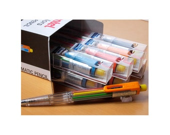 12pcs Pentel Multi 8 PH158ST1 / PH158 8-Color Automatic Mechanical Pencils