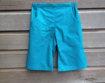 Long kids shorts with pockets / Board shorts / Sizes 12 months to 10 years / Made to order
