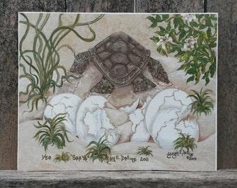 """Loggerhead Turtle """"See Ya"""", Limited Edition Print 1 of 50"""