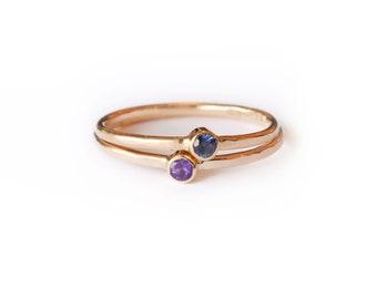 14k Sapphire or Amethyst Shining Goddess | 14k Gold  Sapphire Ring or 14k Gold Amethyst Ring