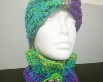 Hombre Crochet Ear Warmer & Cowl Set