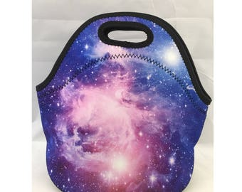 C.C. Neoprene Insulated Lunch Bag | Kids Lunch Bag | Office Lunch Bag | Lunch Box | Vacation Cooler Bag|Teacher Gift Nurse Gift | Bag Nebula